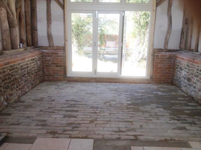 Image 27 - brick floor laid in barn