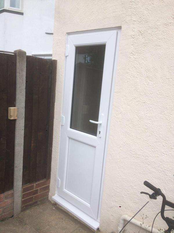 Image 121 - Basildon- White UPVC panel door