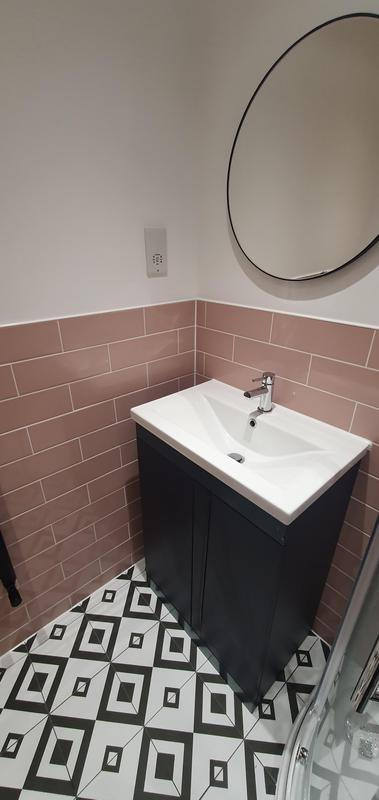 Image 8 - New Basin and Mirror (Part of complete new bathroom installation)