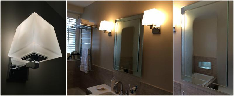 Image 11 - Bathroom wall lights & mirror demister pad