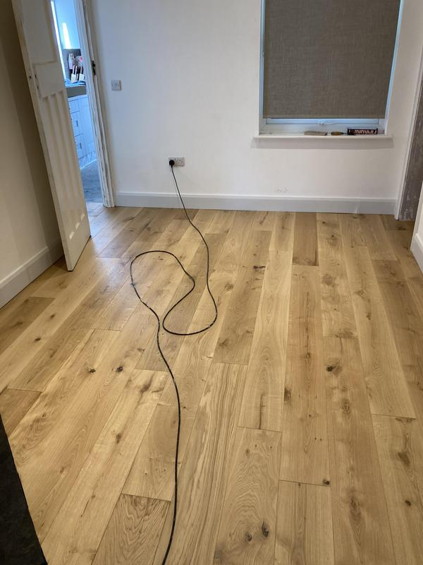 Image 30 - New oak flooring installation replace all skirting
