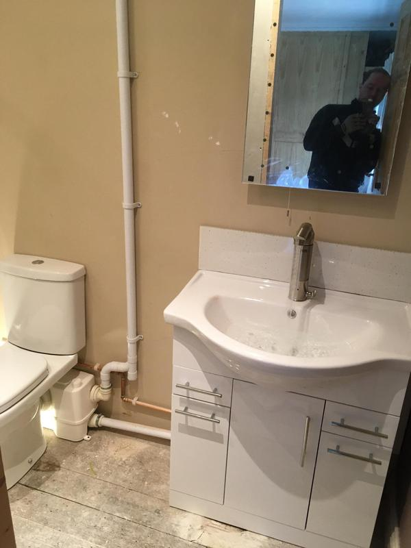 Image 16 - Macerater and toilet and vanity unit fitted