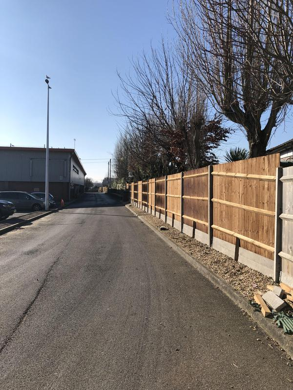 Image 36 - Bespoke close board fencing on concrete posts and concrete gravel boards for one of our commercial residential clients