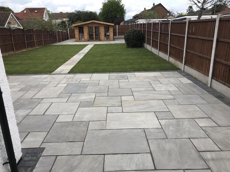 Image 7 - Back patio in grays Essex light grey sandstone