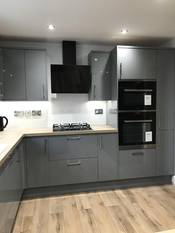 Image 26 - Customer 0092: Kitchen all finished. Works included full re-plaster, plumbing, electrics, new kitchen and flooring to create customers dream room.