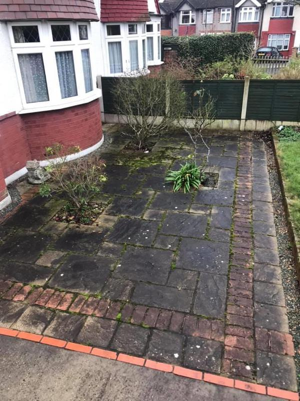 Image 18 - Front garden patio before cleaning