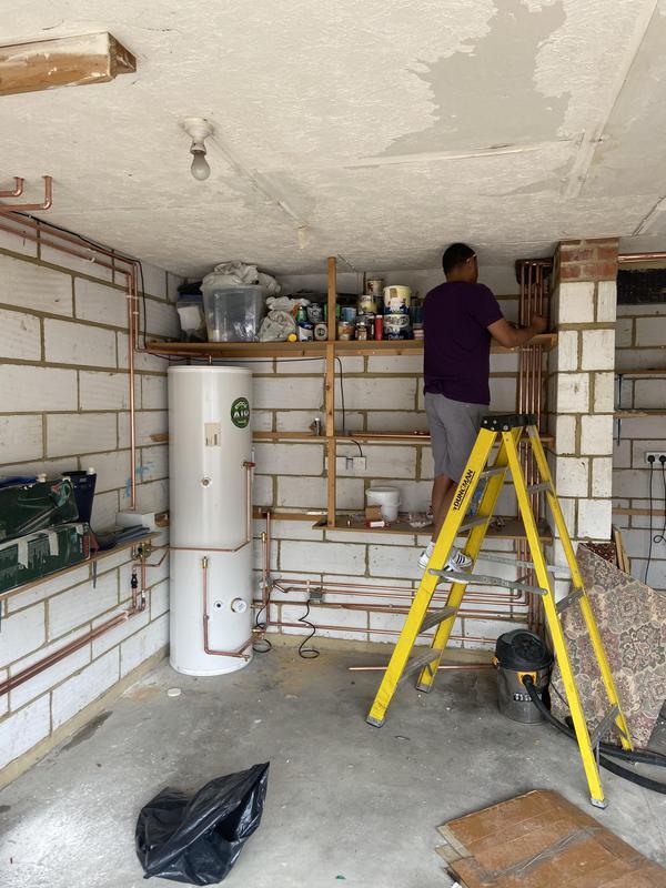 Image 49 - Pipe work in progress