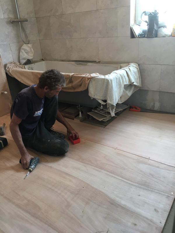 Image 20 - Preparing floor for tiling