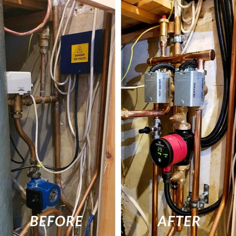 Image 1 - Upgraded heating system as the before was incorrectly fitted with the feed and vent in the wrong place, this creates air locks and helps block up your system with sludge. Loughton.