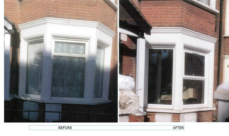 Image 2 - Replacement of 3 new windows in bay