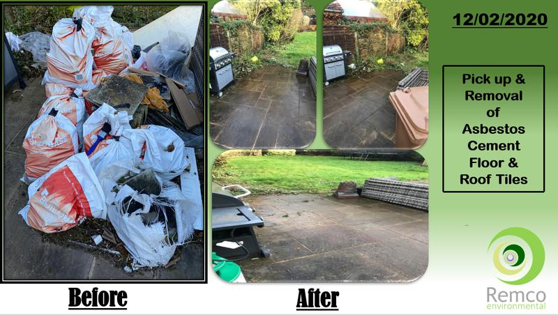 Image 2 - Pick up & Disposal of Asbestos Cement Floor/ Roof Tiles