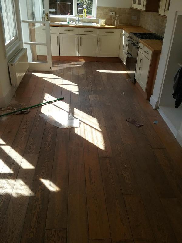 Image 9 - KITCHEN - ENGINEERED OAK FLOOR INSTALLATION