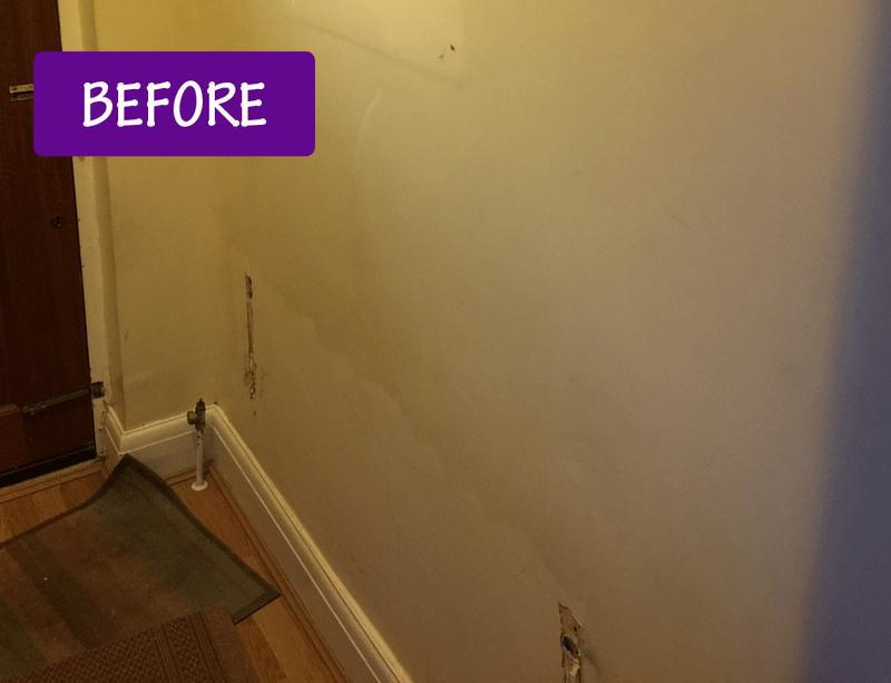 Image 35 - Radiator wall before re-decorating