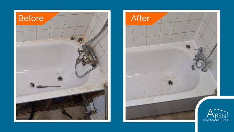 Image 2 - New taps, bath panel and silicone. Before and after photos.