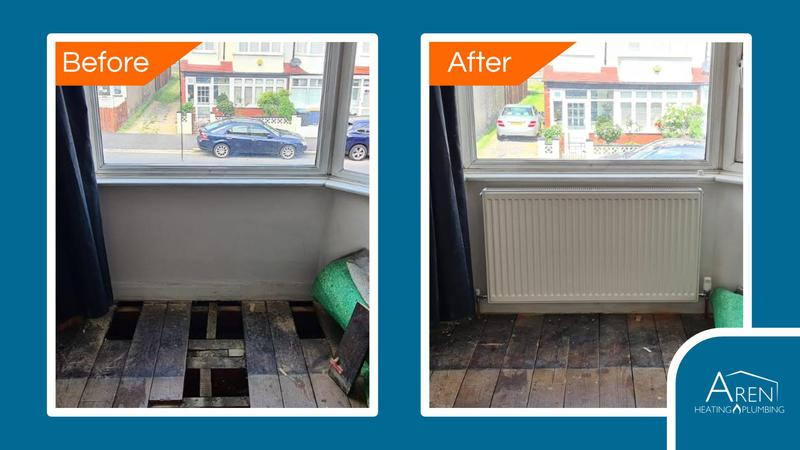 Image 4 - Radiator installation. Before and after photos.