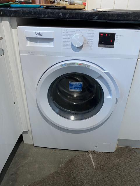 Image 4 - Beko washing machine installation for a local letting agent. This is the new machine after being installed by one of our engineers. BEFORE