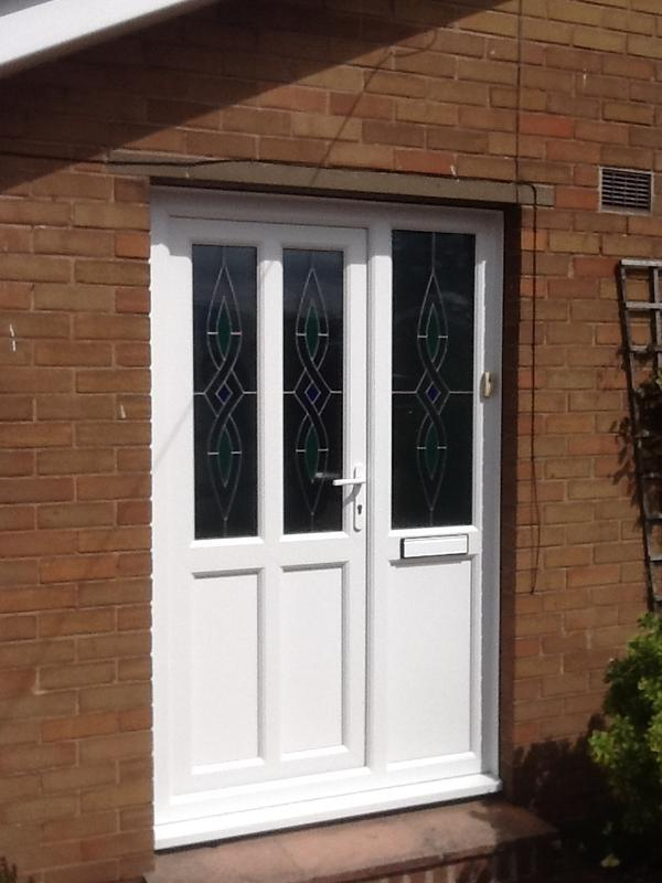 Image 25 - Door & side panel with coloured & lead design glass designed by customer