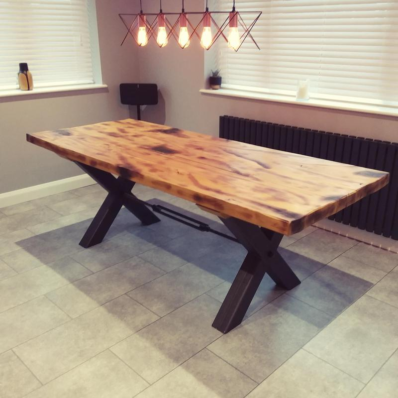 Image 68 - Bespoke rustic oak table made to order