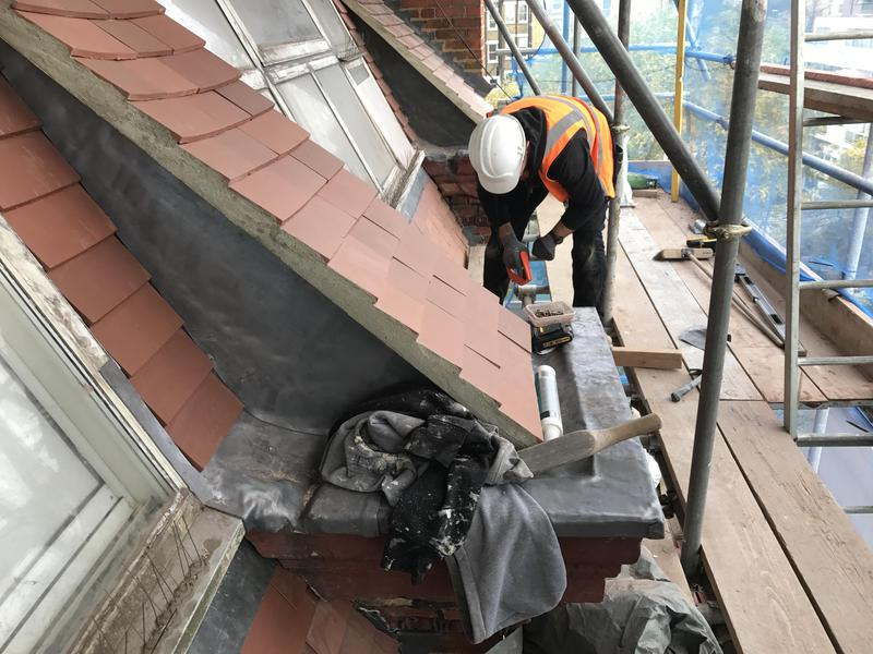 Image 21 - Roofing, external work at Kensigton