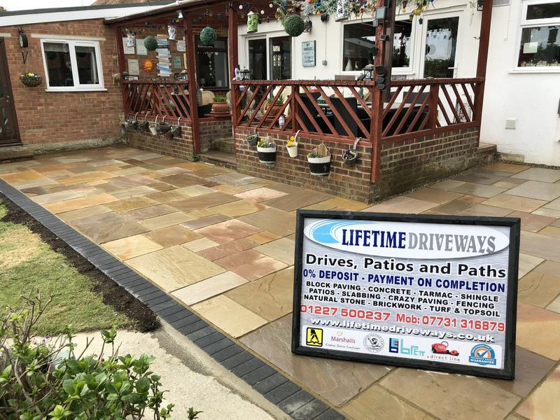 Image 14 - Indian sandstone patio buff multi Canterbury