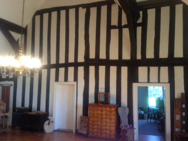 Image 8 - Restored,the oak beams,& painted panels .