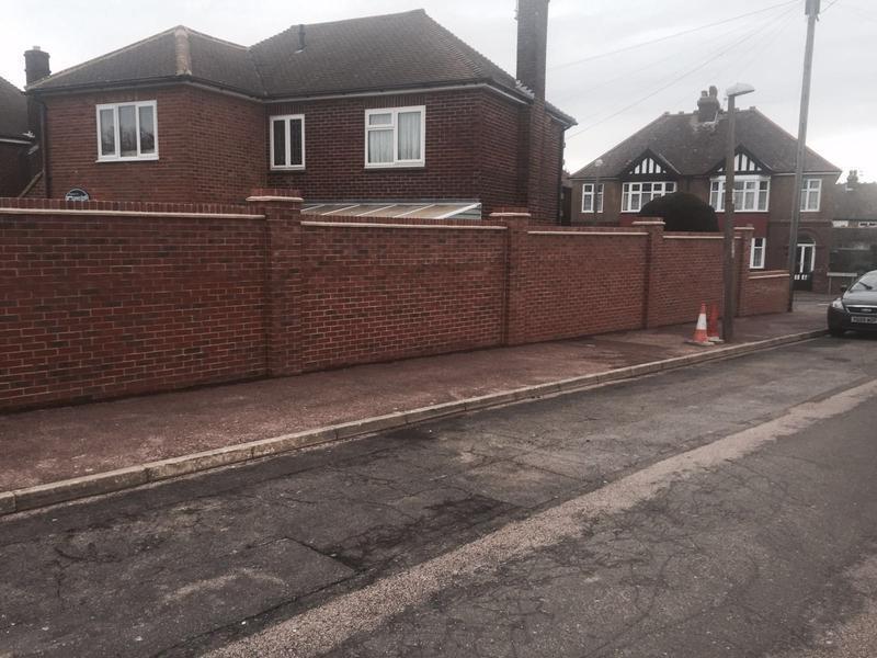 Image 18 - Finished large garden wall