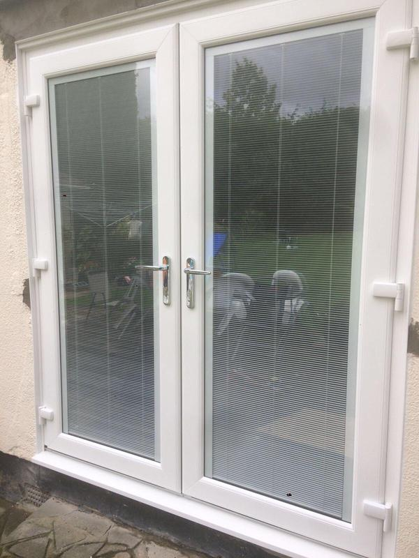 Image 119 - Billericay-White UPVC French doors with blinds