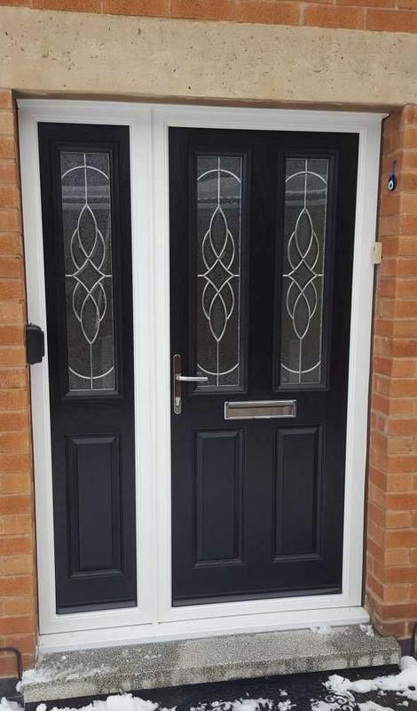 Image 20 - Beeston design Triple Glazed Composite door with Side Panel in Black