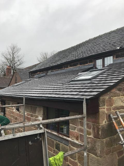 Image 13 - Low pitched inadequate roof tiles and roof pitch replaced with new adequate pitch and suitable roof tiles fitted