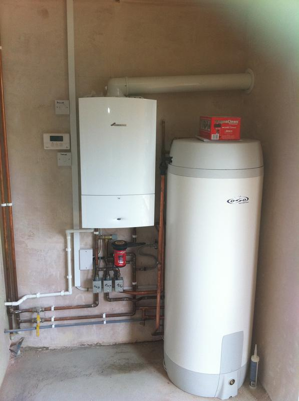 Image 5 - New Worcester Bosch boiler fitted, 3 heating zones: 1 heating zone for the existing house, 1 zone for a large extension, 1 zone for the unvented cylinder. All installed neatly in a boiler room.