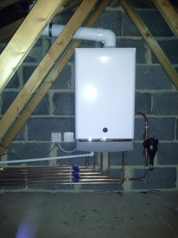 Image 3 - Another Baxi boiler installed in the loft.