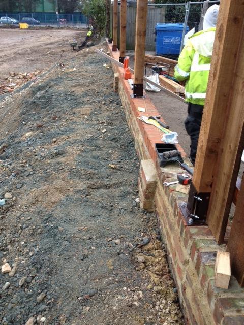 Image 6 - Wall Rebuild in progress Bexleyheath