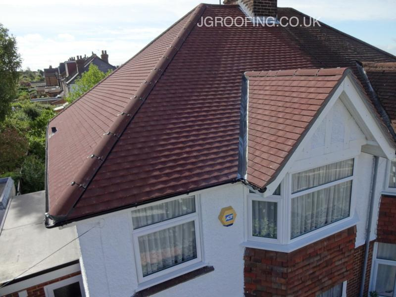 Image 2 - Whole new roof in maidstone using Marley red concrete tiles, then signed off by building regs.