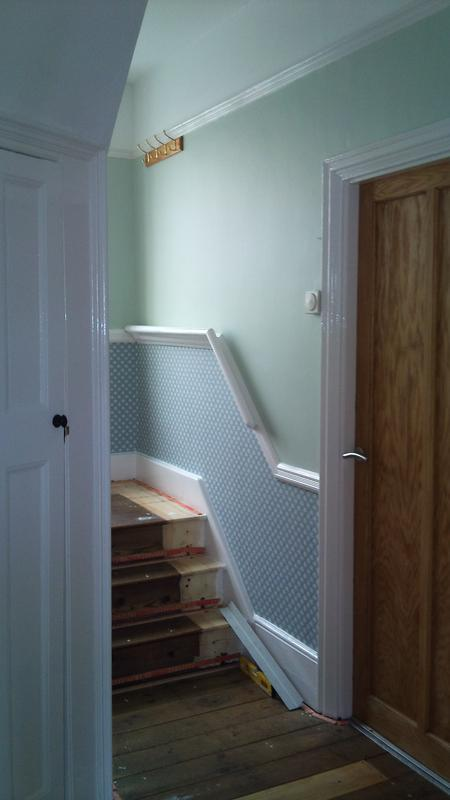 Image 18 - Brentwood Hallway Painted and Wallpapered