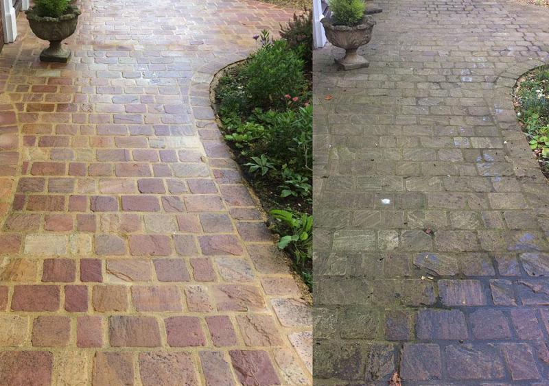 Image 8 - Before and after pressure washing a front drive - spectacular results!