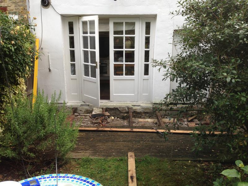 Image 18 - Small garden decking before