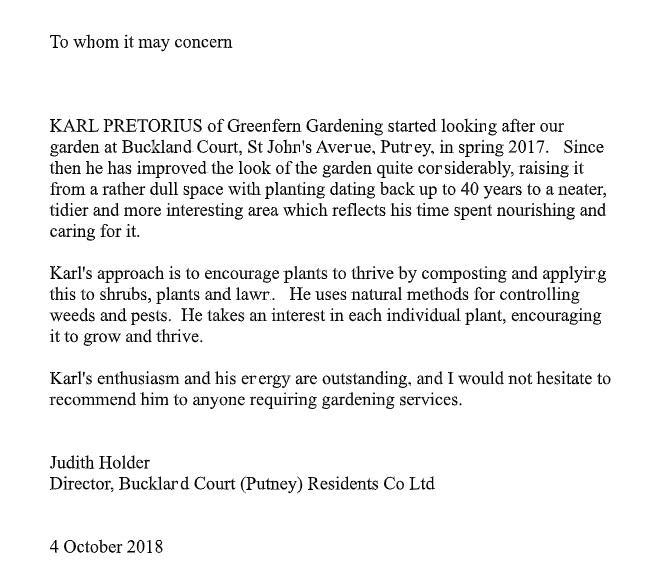 Image 2 - A letter of recommendation from the Director of a large residential estate in Putney