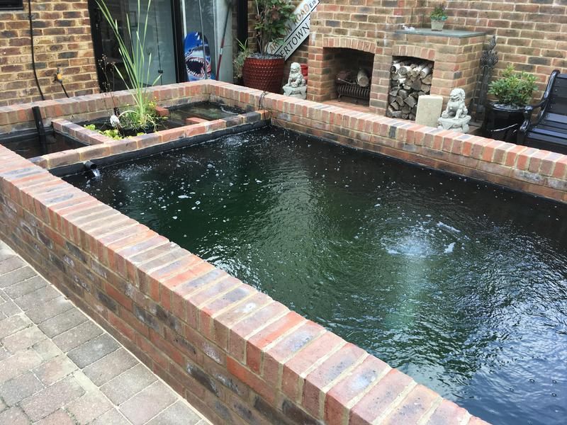 Image 2 - Brick built pond with built in filter
