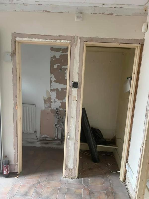 Image 49 - Bury House refurbishment - During - Door frames and doors taken out