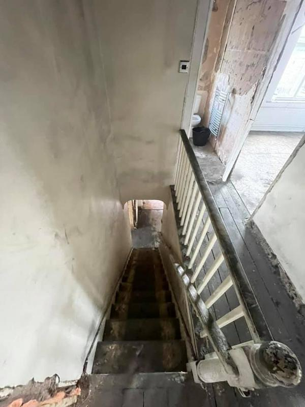 Image 48 - Bury House refurbishment - During - Hallway and staircase