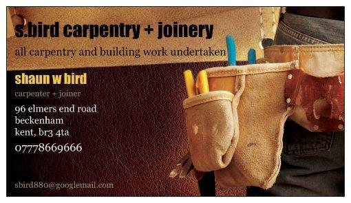 S Bird Carpentry & Joinery logo