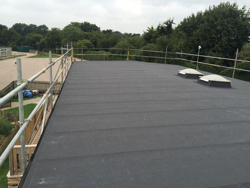 Image 50 - Torch On Felt Re-Roof & Replacement Ply Boards - Longmeadow School, Stevenage