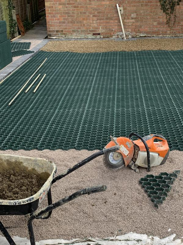 Image 6 - New Grass Mat Driveway Prepared for 10.mm shingle covering.