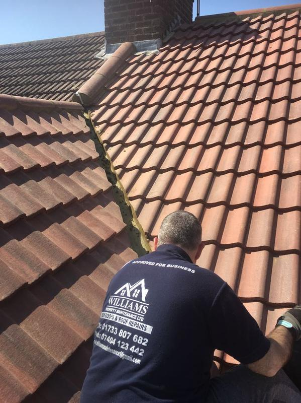 Image 93 - Just doing the last few finishing touches to a new tiled roof replacement, looks much better now with the new rustic red pan tiles.