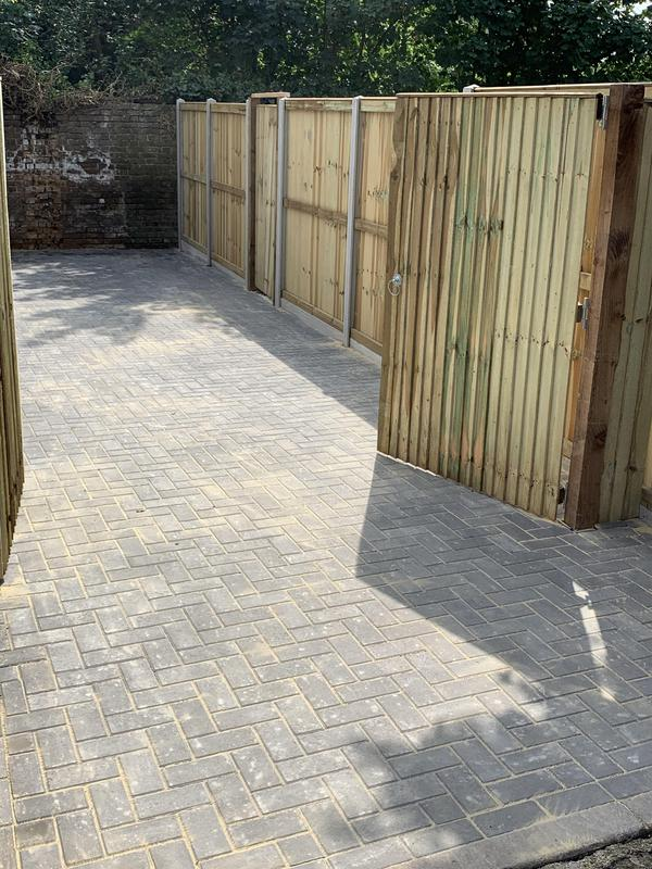 Image 7 - Demolished old Garage and formed new Block Paving Parking area New Fencing and New agate.