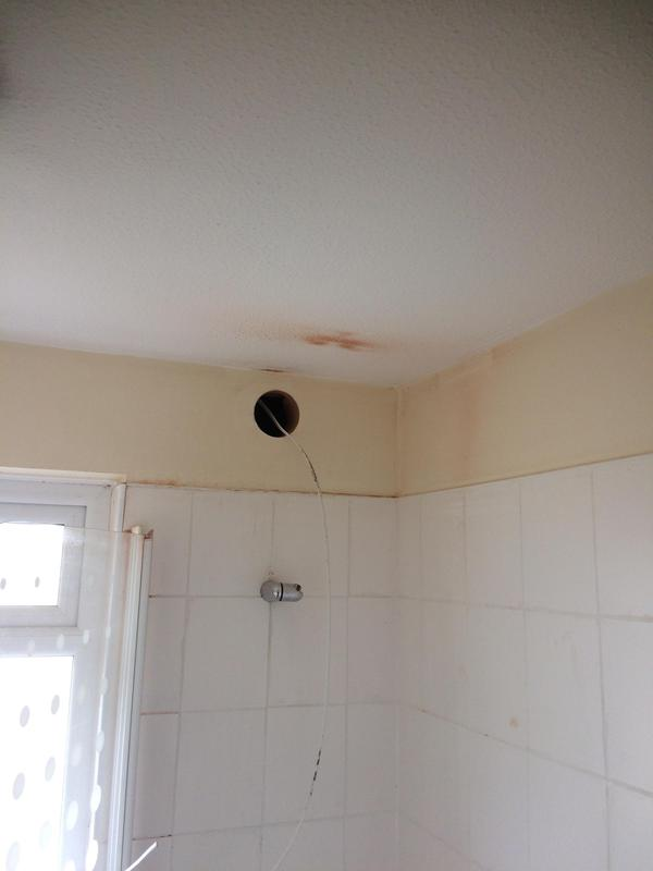 Image 12 - Core hole for new extractor fan