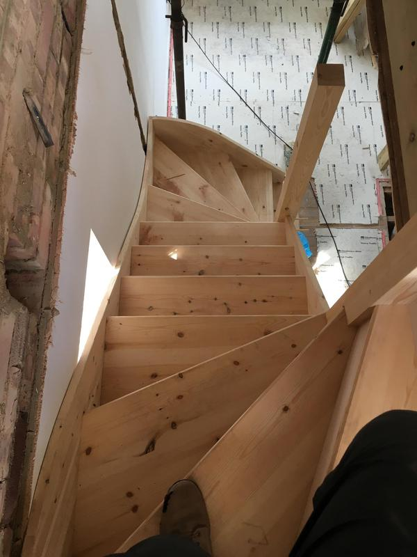 Image 68 - Finished staircase... note there are no spindles and handrail as the client wanted glass which we fitted at a later date.