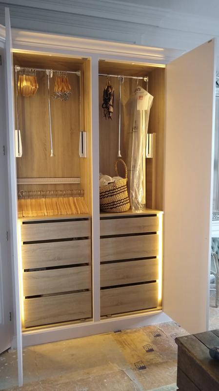 Image 4 - Hanging rails with drawers