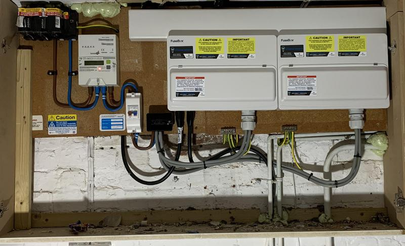 Image 4 - Recent mains and consumer upgrade to a listed building. Look at the before photos so see the progress.