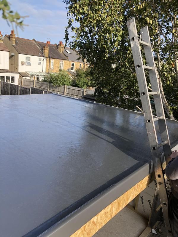 Image 23 - Fibreglass roof completion for a builder friend of ours